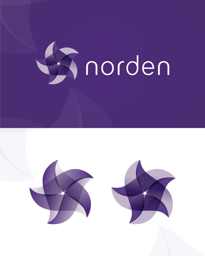 Norden, north, north star, polar star, purple, experimental work, logo design for sale