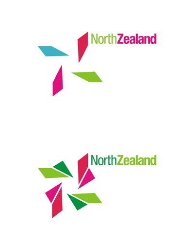 north zealand, nordic lights, aurora borealis, colors, experimental concept, logo design for sale