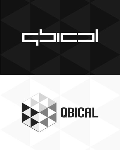 qbical, cube, cubical, cubism, experimental work, logo design for sale