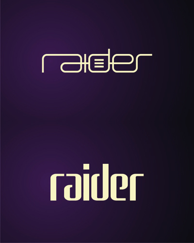 raider, clubbing, electronic, rave, music events organizer logo design