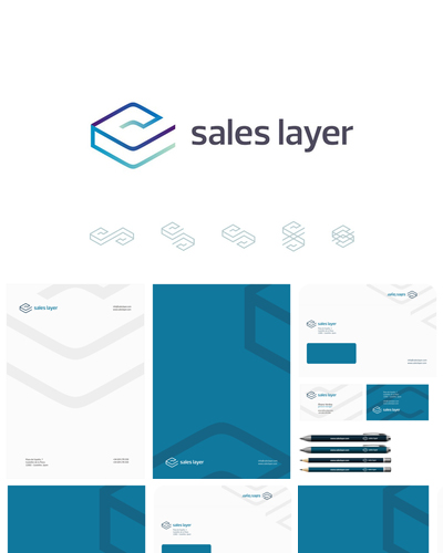 sales layer marketing tool app logo design by alex tass