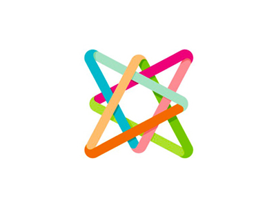 A colorful star letter mark icon logo design symbol