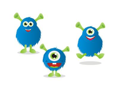Beasts monsters characters blue mascots symbols logo design symbol icon