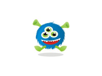 Blue beast monster character mascot symbol logo design