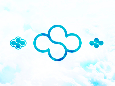 C S cloud sky computing hosting monogram letter mark icon logo design symbol