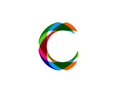 C colorful letter mark icon logo design symbol