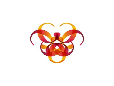 C typographic dragon head logo design symbol icon