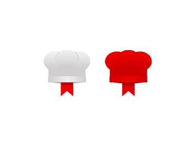 Chef recipes foods bookmark  logo design symbol icon