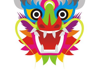 Colorful dragon logo design symbol mark icon