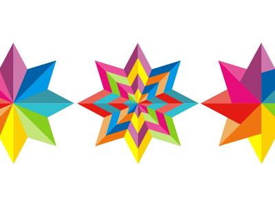 Colorful star logo design symbol icon