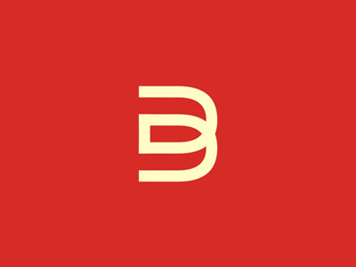 D B monogram letter mark icon logo design symbol
