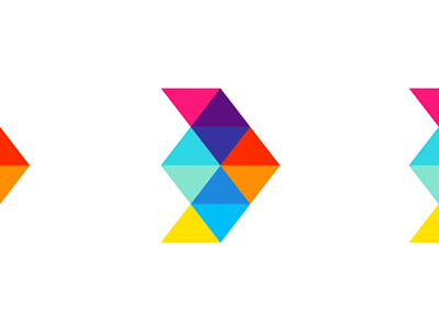 D arrow airplane colorful logo design symbol icon