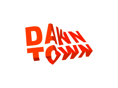 DawnTown modern architecture firm wordmark logotype logo design