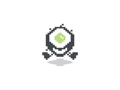 Digital beast monster character mascot symbol logo design