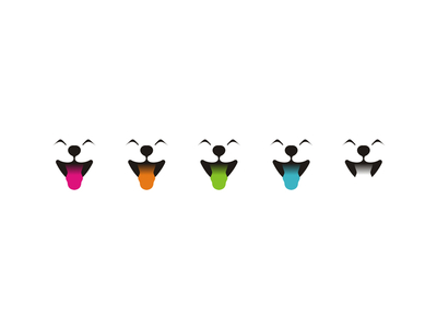 Dogs band happy puppies logo design symbols icons
