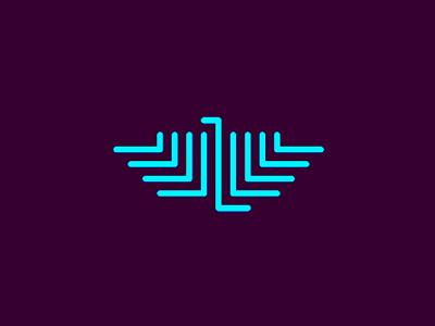 Eagle monogram symbol logo design