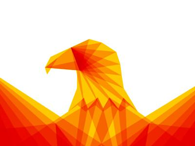 Eagle symbol detail icon logo design