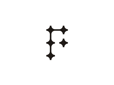 F + plus letter mark icon logo design symbol