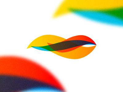Flame fire fish scent logo design symbol icon