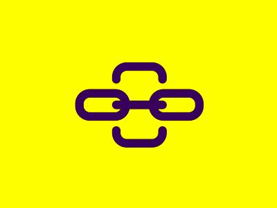 Friend chain character mobile app logo design symbol icon