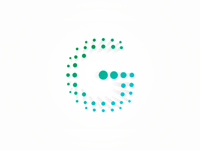 G dots points letter mark icon logo design symbol