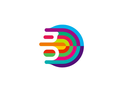 G gravity colorful fluid abstract logo design symbol icon