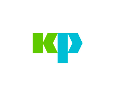 K P arrows monogram letter mark icon logo design symbol