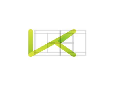 K tennis ball path pitch letter mark icon logo design symbol