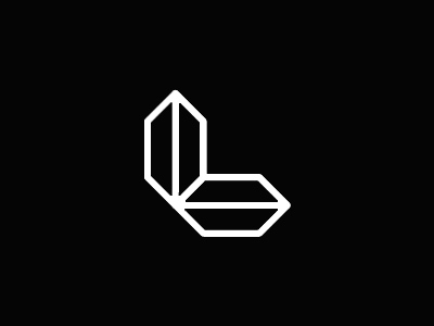 L luxury time directions letter mark icon logo design symbol