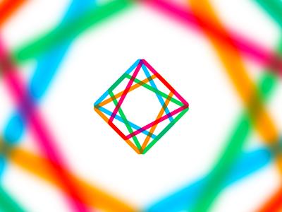 Laser diamond logo design symbol icon