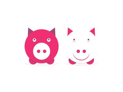 Les piglets pigs logo design symbols icons