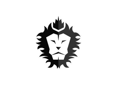 Lion king 2 lions crown logo design symbol icon