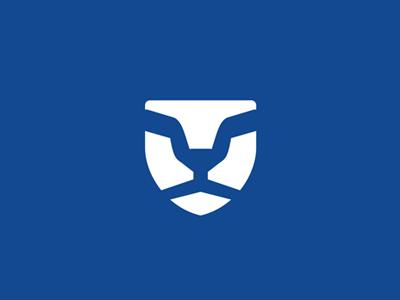 Lion mane sun glasses shield security logo design symbol icon