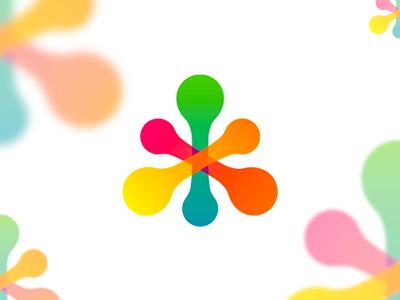 Medical ADN DNA research logo design symbol icon