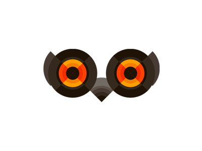 Owl eyes logo design symbol icon