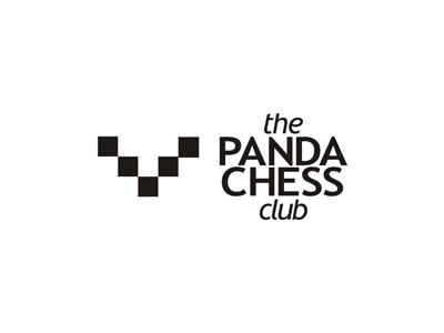 Panda chess club logo design