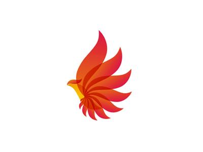 Phoenix bird phenix energy wings logo design symbol icon