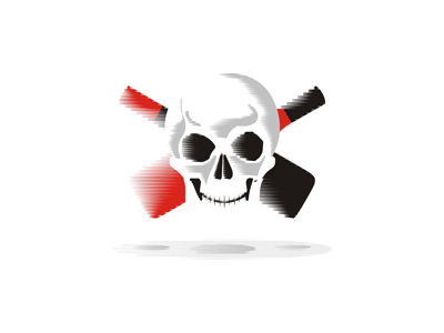 Pirates wine head skull bottles flag logo design symbol icon mark