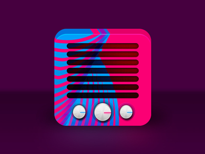 Rive radio app icon logo design