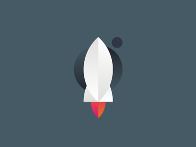 Rocket planets space logo design symbol icon