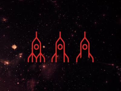 Rockets lines logo design symbol icon