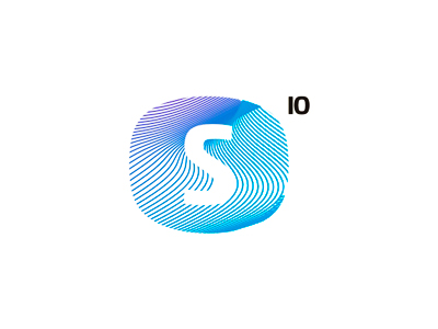 S 10 io letter mark icon logo design symbol