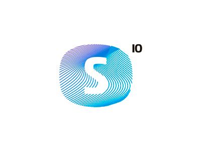 S 10 io monogram logo design symbol icon