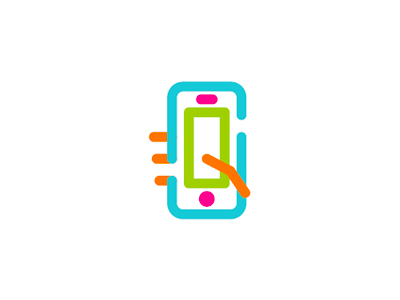 S mobile play app icon logo design symbol icon