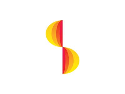 S solarium, sun letter mark icon logo design symbol