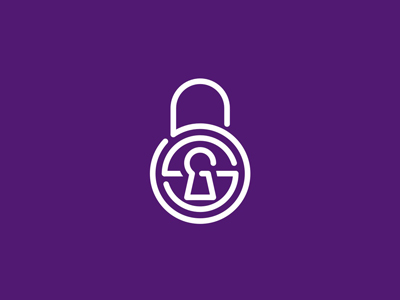 SSG security padlock locker lock monogram letter mark icon logo design symbol