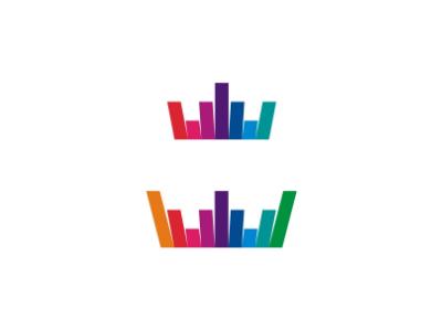 Soundwave crown dj music logo design symbol icon