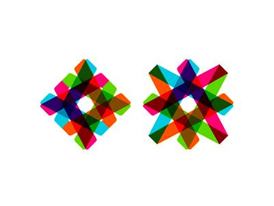Star paths logo design symbol icon
