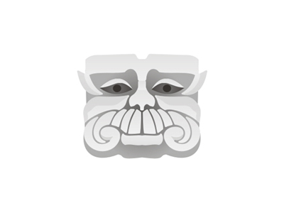 Stone guru illustration logo design symbol icon