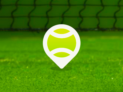 Tennis place pin pointers location map logo design symbol icon